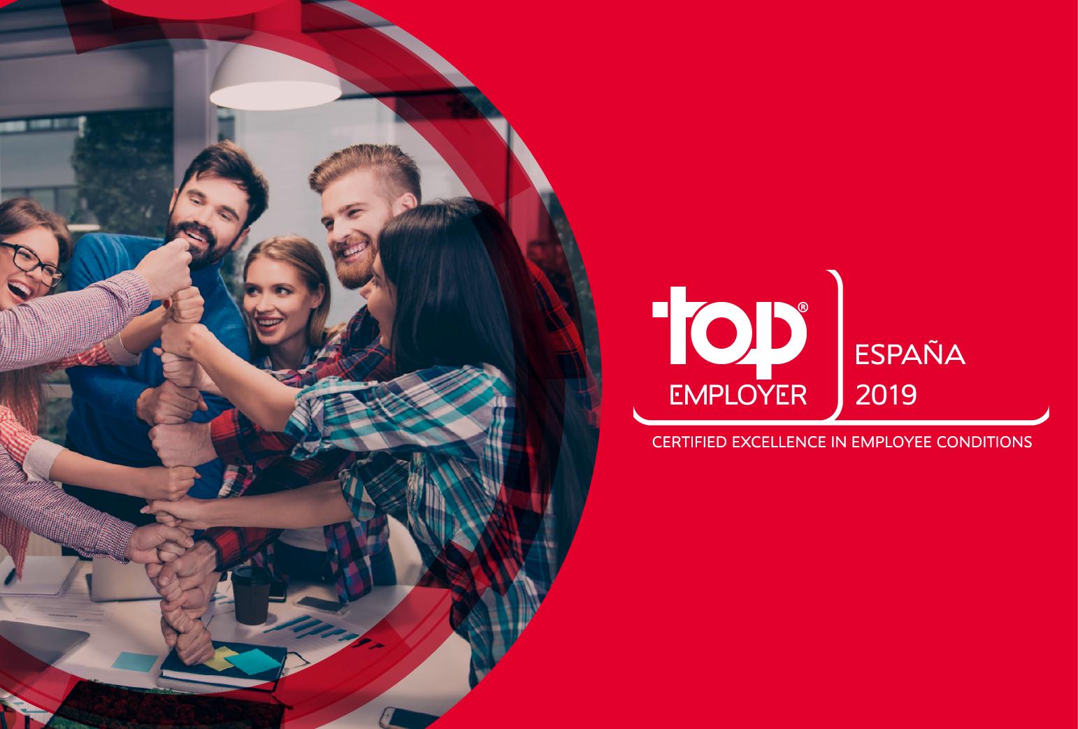 ALTEN SPAIN es certificada como Top Employer 2019