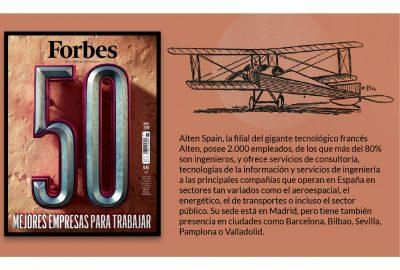 ALTEN, considerada una de las 50 mejores empresas para trabajar según la revista Forbes