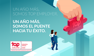 ALTEN SPAIN es certificada como Top Employer 2020