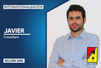 """Javier: """"Una de las grandes ventajas de trabajar en ALTEN es su presencia internacional y la facilidad que ofrece para la movilidad"""""""
